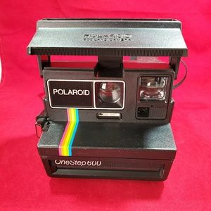 Polaroid One Step 600 Land Camera Rainbow Stripe